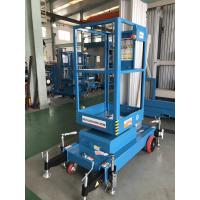 Quality Single Mast Lift With 630 * 650mm Platform , Aluminium Alloy Hydraulic Cargo Lift for sale