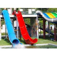 Quality Water Playground Indoor Water Park Equipment Barrel And Sled Slides 1 Year Warranty for sale