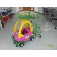 Buy cheap 95L Children / Kids Shopping Carts With Rear Basket / 4 Swivel Flat Caster SGS CE from wholesalers
