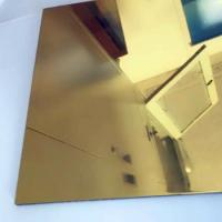 China Thickness 0.3mm Aluminium Mirror Sheet 87% Reflective Data For Lighting Industry on sale