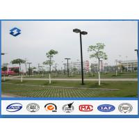 ASTM A123 Galvanized parking lot lighting poles Against earthquake of 8 grade