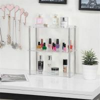 Quality Eco - Friendly Clear Acrylic Tabletop Display Shelves / Cosmetic Store Display for sale