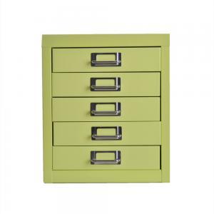 Quality Office Furniture Mini 5 Drawer Vertical Filing Cabinet Steel Desk Legal Size for sale