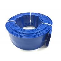 Quality Blue PVC Layflat Hose Aging Resistant Large Diameter PVC Pipe For Drip Irrigation for sale