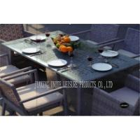 Buy cheap Metal Rattan Outdoor Patio Dining Sets / Porch Table And Chairs Comfortable product