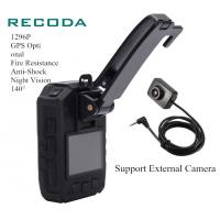 Buy cheap External Police Body Worn Camera 1296P 11 Hrs Recording IP67 140 Degree Lens from wholesalers