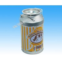 Quality D84 Milk Bottle Shaped Metal Tin Packaging Box Storage For Christmas Holiday for sale