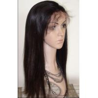 China High Quality Half Hand Tied Indian Remy Hair Glueless Lace Front Wig With Baby Hair on sale
