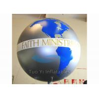 Quality Custom Advertising Earth Globe Balloons With Digitally Printed 2 Years Warranty for sale