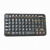 Quality Bluetooth Mini Keyboard with Palm Size Backlit Keys/Low Profile Enclosure/Lightweight/Rechargeable for sale