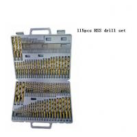 Quality JWT 115PCS HSS Drill Set ,HSS TWIST DRILL BIT SET for sale