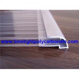 Quality Aluminium U profile, aluminium edge, pc sheet accessories, polycarbonate sheet profiles for sale