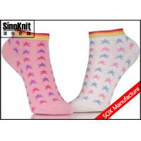 China Frilly Cute Star Patterned Colorful Ankle Socks / Womens Cotton Socks Wholesale on sale