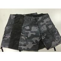 Buy cheap Camouflage Short Work Pants , Mens Black Combat Trousers For Police  / Army product