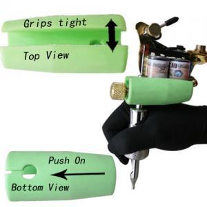 China Black Handle Plastic Tattoo Tube Grips / Sleeve , Silicone Tattoo Grip on sale