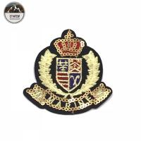Quality Noble Royal Sequin Uniform Shirt Patches Popular British Style Custom Logo for sale