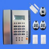 Quality Dual network PSTN and GSM alarm system with built in phone CX-217 for sale