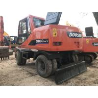 Quality 2010 Year Used Wheeled Excavators DOOSAN DH150W-7 96KW Engine Well Maintenance for sale