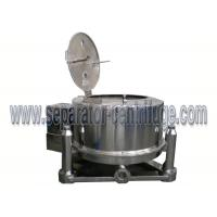 Quality Stainless Steel Batch Top Discharge Basket Centrifuge , Industrial Centrifuge Machine for sale