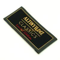 Quality Colorful End Folded Custom Woven Labels Low Minimum For Textile / Clothing for sale