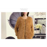 Quality Round neck zipper design long sleeves ladies fashion & elegant fur coat for sale