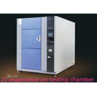 China SUS 304 Thermal Shock Test Chamber Physical Chemical Formula Three - Slot Cold And Hot Impact Box on sale