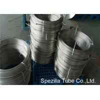 Buy Instrumentation Stainless Steel Coil Tubing , ASTM A213 TP304 Polished Stainless Steel Pipe at wholesale prices