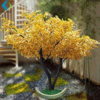 Golden Artificial Ginkgo Tree For Wedding Hotel Interior Landscaping Decoration for sale