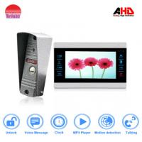 Quality morningtech Strong motion detecion 7 inch AHD color video door phone supplier with IR-CUT  and photo frame for sale
