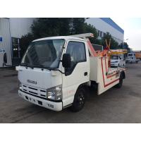 Quality 3t Breakdown Wrecker Flatbed Recovery Truck , Light Duty 98hp Vehicle Engine Cars Tow Truck for sale
