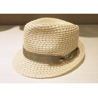 Quality Small Brim White Church Mens Dress Hats , Vintage Mens PP Hats for sale