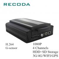 Buy cheap Mobile Bus DVR HDD/SD 4G/WIFI/GPS 4Ch 1080P from wholesalers