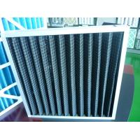 China High Temperature EVA foam Gasket Galvanized Steel Black Activated Carbon Air Filter on sale