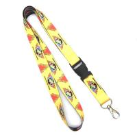 China Custom Printed Heat Transfer Lanyard Yellow Detachable , 20mm X 900 mm on sale