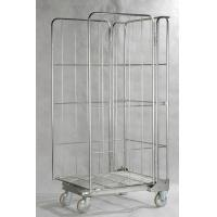 Quality Metal Steel Storage Roll Cage Trolley Zinc Galvanized Finish High Precision for sale