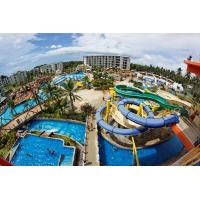 China Blue Customized Hotel Pool Water Slides 0.3-0.6m Water Depth on sale