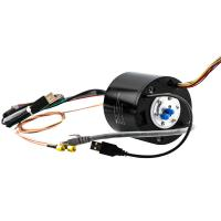 China Hybrid Slip Ring Transferring HF, USB and Ethernet Signal with Solid Shaft for Video Surveillance on sale