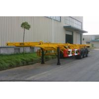 Quality 20ft / 30ft Gooseneck Rear 3 FUWA Axles Carbon Steel Container Trailer Chassis for sale