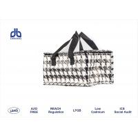 Houndstooth Printing Insulated Cooler Bags 120g / m² With Aluminum / Pearl Form Inner