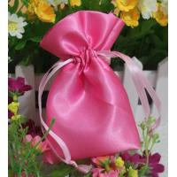 Quality Small Pink Fabric Satin Dawstring Bag Eco-friendly Drawstring Bags for sale
