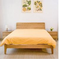Quality Small Modern Real Wood Platform Bed , Chunky Wooden Frame Single Bed With Slatted Bed Base for sale