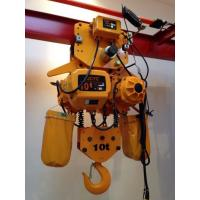 China Yellow Color 10 Ton Chain Hoist With Hook , Chain Electric Hoist High Speed on sale
