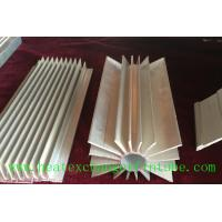 Quality Round Extruded Aluminum Heat Sink Profile With Small Longitudinal Fins for sale
