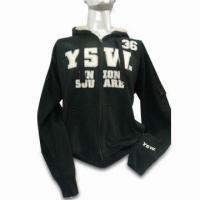 China Girl's Full Zipper Sweatshirt, Customized Styles are Accepted, Made of CVC Cotton/Polyester on sale