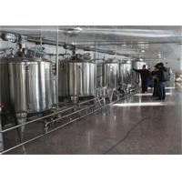 Buy cheap 1000L / H UHT Milk Processing Line Complete Combined Dairy Line from wholesalers
