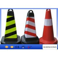 China Safety Overhead Line Construction Tools Red PVC Traffic Cones With Reflective Tape on sale
