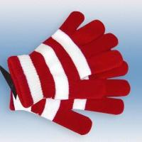 Quality 100 percent Acrylic Knitted, Striped Magic Gloves for sale