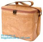 Custom Eco friendly tyvek Lunch bag Insulated Cooler bag,tyvek kraft paper