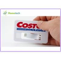 China White Business Card USB Memory Disk full Color Logo , Real Storage 4GB Credit Card USB 2.0 on sale