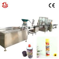 Buy cheap Dashboard Wax Dashboard Cleaner Aerosol Spray Filling Equipment CE Approval product